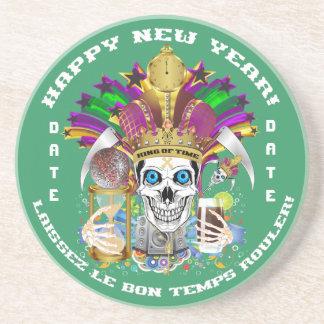 La opinión del personalizar del Año Nuevo del carn Posavasos Para Bebidas