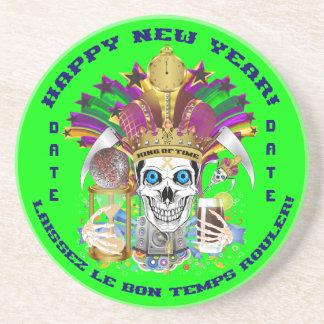 La opinión del personalizar del Año Nuevo del carn Posavasos Cerveza