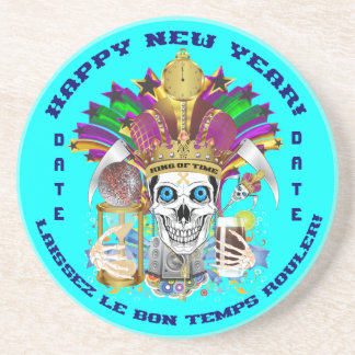 La opinión del personalizar del Año Nuevo del carn Posavasos Manualidades