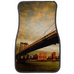 La opinión del puente de Manhattan del lado de Bro Alfombrilla De Coche