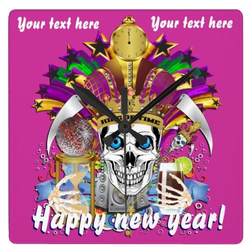 La opinión del reloj del Año Nuevo del carnaval