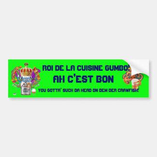 La opinión del rey carnaval del Gumbo hace alusión Etiqueta De Parachoque