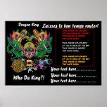 La opinión del rey del dragón del carnaval del fút posters