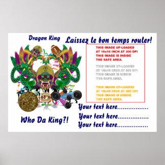 La opinión del rey del dragón del carnaval del impresiones