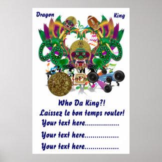 La opinión del rey del dragón del carnaval del poster