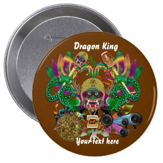 La opinión del rey del dragón del fútbol del pin redondo de 4 pulgadas