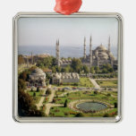 La opinión el sultán Ahmet Camii construyó 1609-16 Adorno Cuadrado Plateado