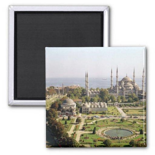 La opinión el sultán Ahmet Camii construyó 1609-16 Imán Cuadrado