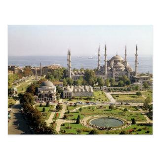 La opinión el sultán Ahmet Camii construyó 1609-16 Postales