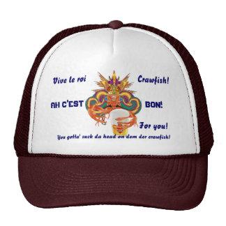 La opinión inglesa de los cangrejos del carnaval h gorras de camionero