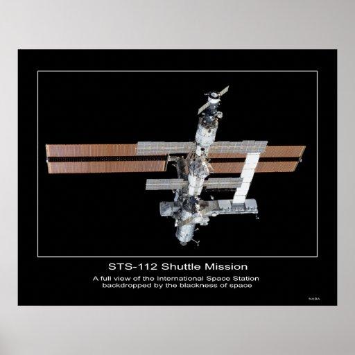 La opinión internacional de estación espacial de l posters