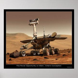 La oportunidad de Rover en Marte Póster