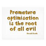 La optimización prematura es la raíz de todo el ma comunicado
