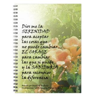 La Oración de la Serenidad en Español Spiral Notebook