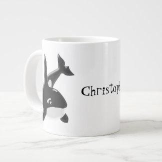 La orca apenas añade nombre taza de café gigante