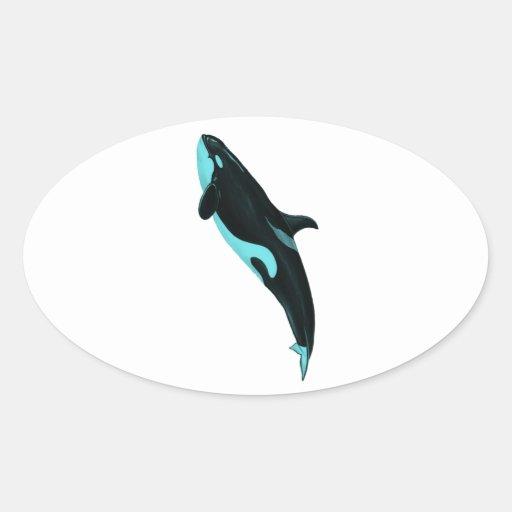 LA ORCA ASCENDENTE PEGATINAS DE ÓVAL PERSONALIZADAS