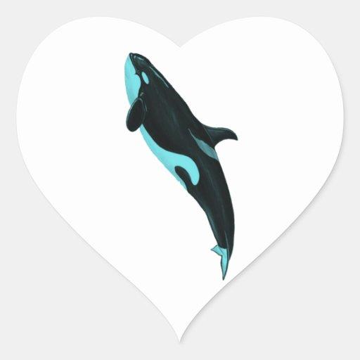 LA ORCA ASCENDENTE CALCOMANÍA DE CORAZÓN PERSONALIZADAS