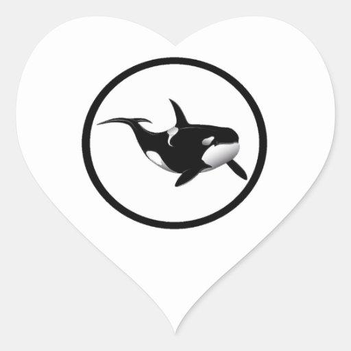 LA ORCA BRILLANTE CALCOMANÍA CORAZÓN
