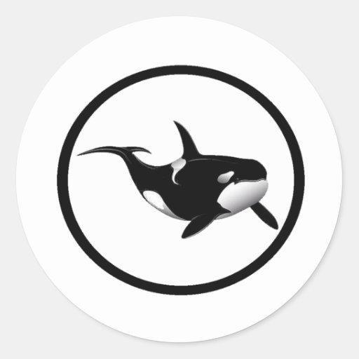 LA ORCA BRILLANTE ETIQUETA REDONDA