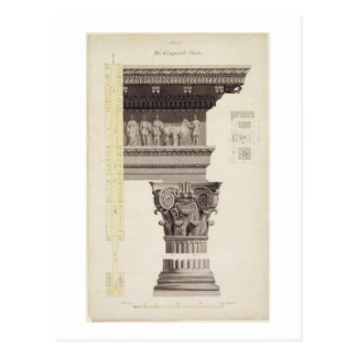 La orden compuesta (w/c, lavado, pluma y tinta postales