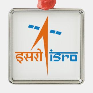La organización de investigación india del espacio adorno navideño cuadrado de metal