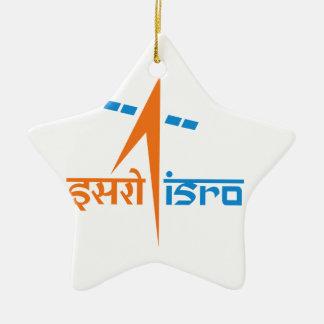 La organización de investigación india del espacio adorno navideño de cerámica en forma de estrella
