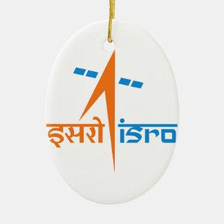 La organización de investigación india del espacio adorno navideño ovalado de cerámica
