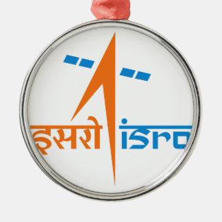 La organización de investigación india del espacio adorno navideño redondo de metal
