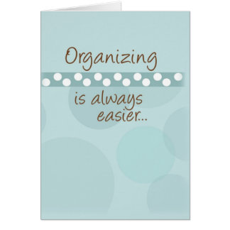 La organización es siempre más fácil tarjeta pequeña