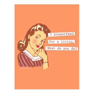 La original amamanta para un humor retro vivo de l postal