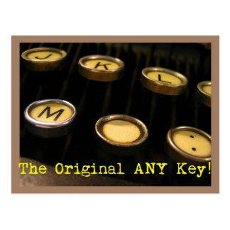 ¡La original CUALQUIE llave! Postal