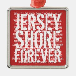 La orilla del jersey adorna para siempre adornos de navidad