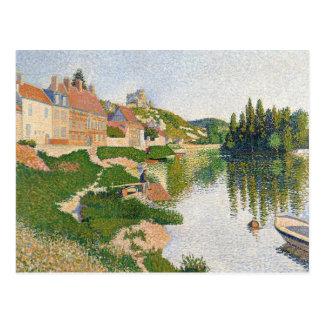La orilla del río, Pequena-Andely, 1886 Tarjetas Postales