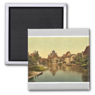 La orilla y la sinagoga, Nuremberg, Bavari de Pegn Imán Para Frigorífico