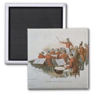 La orquesta de Juan Strauss en una bola de la cort Imán Cuadrado