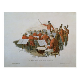 La orquesta de Juan Strauss en una bola de la Postales
