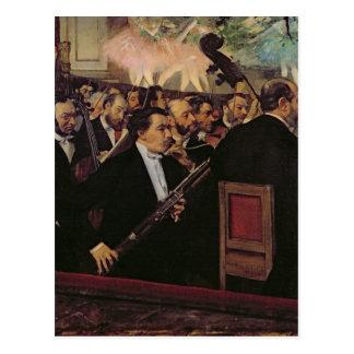 La orquesta de la ópera, c.1870 postales