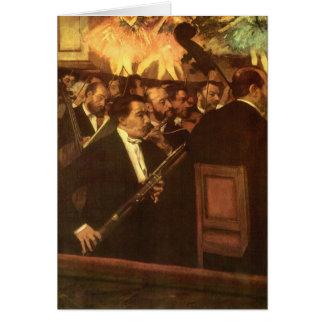 La orquesta de la ópera cerca desgasifica, tarjeta