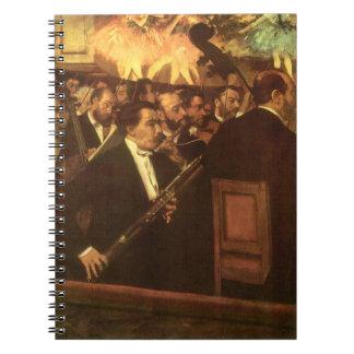 La orquesta de la ópera de Edgar Degas, arte del Cuaderno