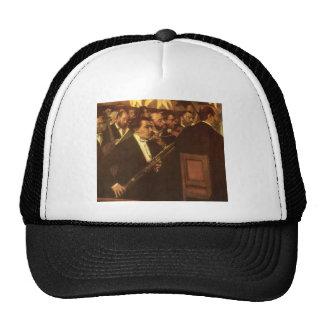 La orquesta de la ópera de Edgar Degas, arte del Gorras