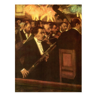 La orquesta de la ópera de Edgar Degas, arte del Tarjeta Postal
