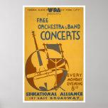 La orquesta libre concierta WPA 1938 Posters