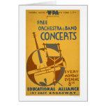 La orquesta libre concierta WPA 1938 Tarjeton