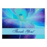 La orquídea azul le agradece Notecard Felicitaciones