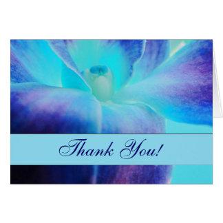 La orquídea azul le agradece Notecard Tarjeta Pequeña