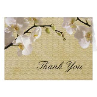 La orquídea blanca del vintage le agradece cardar tarjeta pequeña