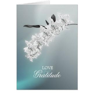 La orquídea blanca - gracias tarjeta de nota de la