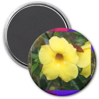 La orquídea de la plantilla florece el regalo imán redondo 7 cm