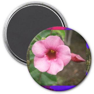 La orquídea de la plantilla florece el regalo imanes para frigoríficos