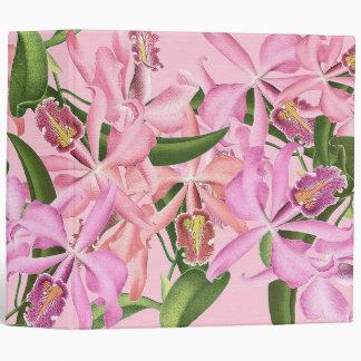 La orquídea del vintage florece la carpeta de